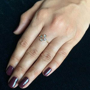 rose gold real diamond ring