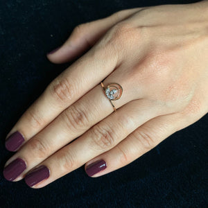 rose gold real diamond ring pic