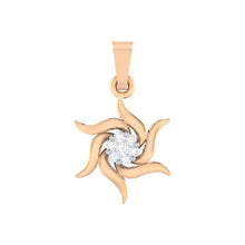 Load image into Gallery viewer, 18Kt rose gold real diamond pendant by diamtrendz