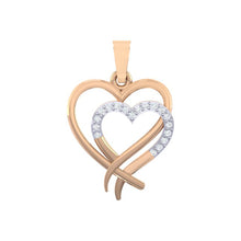 Load image into Gallery viewer, 18Kt rose gold real diamond heart shape pendant by diamtrendz