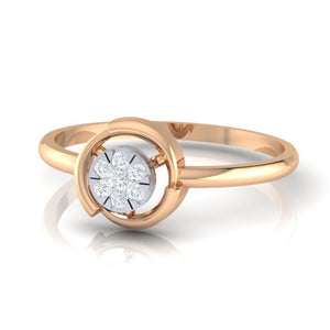 18Kt rose gold real diamond ring by diamtrendz