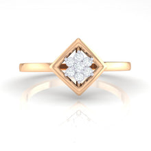 Load image into Gallery viewer, 18Kt rose gold real diamond ring by diamtrendz