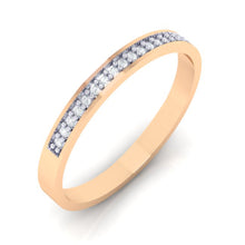 Load image into Gallery viewer, 18Kt rose gold band diamond ring by diamtrendz