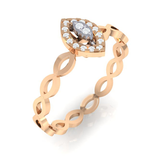 18Kt rose gold marquise diamond ring by diamtrendz