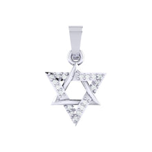 Load image into Gallery viewer, 18Kt white gold real diamond star shape pendant by diamtrendz