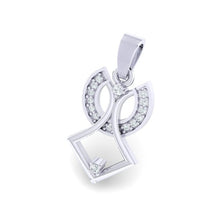 Load image into Gallery viewer, 18Kt white gold real diamond pendant by diamtrendz