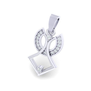 18Kt white gold real diamond pendant by diamtrendz