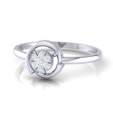 Load image into Gallery viewer, 18Kt white gold real diamond ring by diamtrendz