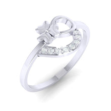 Load image into Gallery viewer, 18Kt white gold heart diamond ring by diamtrendz