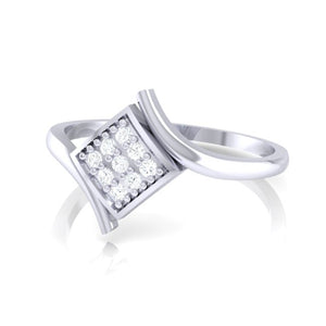18Kt white gold real diamond ring by diamtrendz