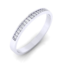 Load image into Gallery viewer, 18Kt white gold band diamond ring by diamtrendz