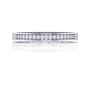 18Kt white gold band diamond ring by diamtrendz