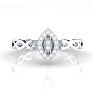 18Kt white gold marquise diamond ring by diamtrendz