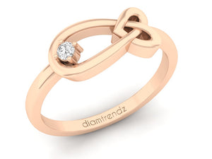 18Kt rose gold infinity diamond ring by diamtrendz