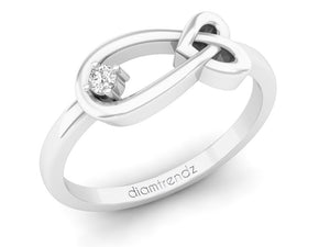 18Kt white gold infinity diamond ring by diamtrendz