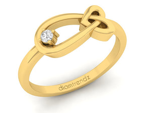 18Kt gold infinity diamond ring by diamtrendz