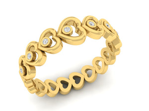18Kt gold heart shaped diamond ring by diamtrendz