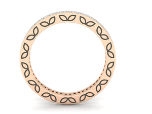 18Kt rose gold band diamond ring by diamtrendz