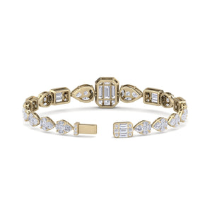 gold designer diamond bracelet