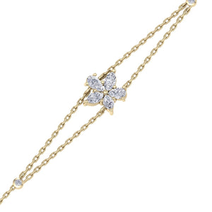 gold chain diamond bracelet