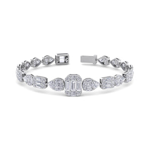 white gold designer diamond bracelet