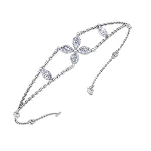 white gold chain diamond bracelet