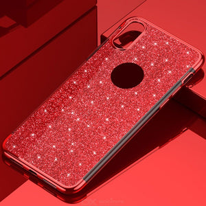 Glitter Phone Case Luxury Shockproof TPU Mobile Cover For IPHONE