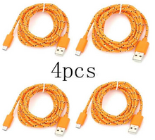 Load image into Gallery viewer, Micro USB Nylon Braided Android Charging Data Cable - (4 PCS)