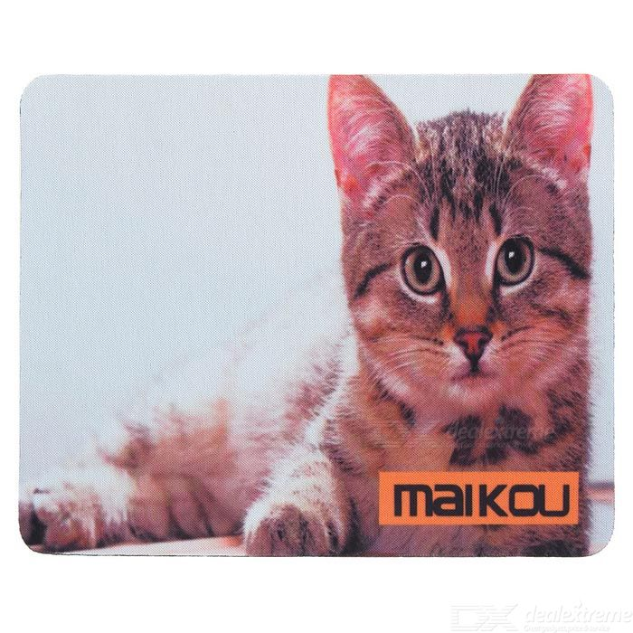 MAIKOU 21.8*18*0.2cm Lovely Cat Pattern Anti-Slip Non-Slip Mouse Pad Mat