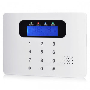 Wireless GSM SMS Home Security Burglar Alarm System Kit for Smart House Office (EU Plug)