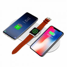 Load image into Gallery viewer, SPO 7.5W Qi Fast Wireless Charging Charger for Smartphone, Smart Watch - White