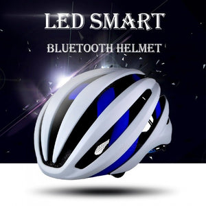 Stylish EPS Light LED Smart Bluetooth Bike Helmet Outdoor Cycling Safety Helmet Protective Bicycle Gear With Mic For Men Blue