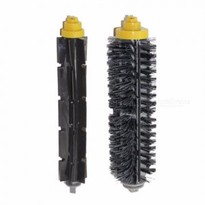 Bristle Brush + Flexible Beater Brushes For IRobot Roomba Vacuum Cleaner Parts 600 700 Series 760 770 780 790 Black