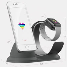 Load image into Gallery viewer, JEDX Stand for Apple Watch, Charging Station Dock Accessories Phone Holder Aluminum for IPHONE Series - Silver