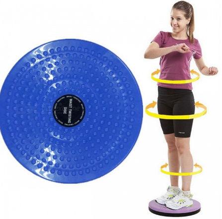 Waist Wriggling Plate Twister Plate Twist Board Twisting Disc Slimming Leg Fitness Equipment Small Waist Abdomen Exercise blue