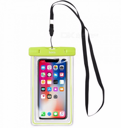 HOCO Universal Swim Waterproof Phone Pouch Cover Fluorescent For IPHONE Xiaomi Samsung Mobile Waterproof Case Bag