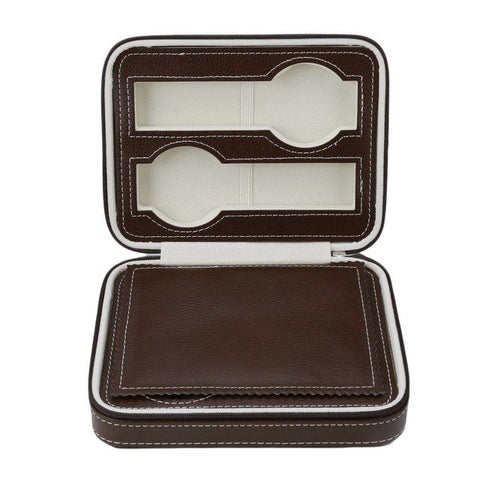 Durable 4 Slots PU Leather Jewelry Watch Box