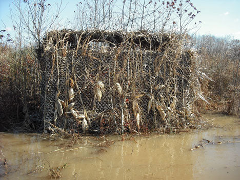 Camo Netting Duck Blind