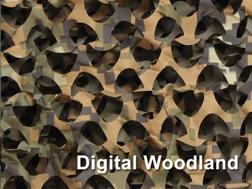 woodland digital camo netting