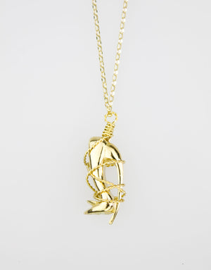 A unique piece of jewellery by designer Georgina Goodman in solid gold.