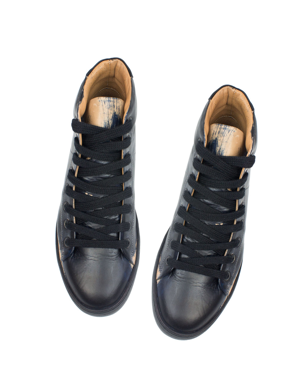 Designer hand painted sneaker by Georgina Goodman, a customised sneaker, painted in London on natural vegetable tanned leather with recycled soles and leather lining, comfy feet always with these one of kind trainers.