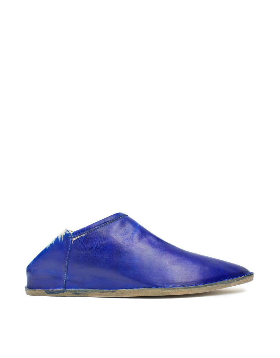 Hand Painted Blue Slip On