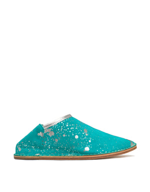 Jade and Silver Splash Slip On