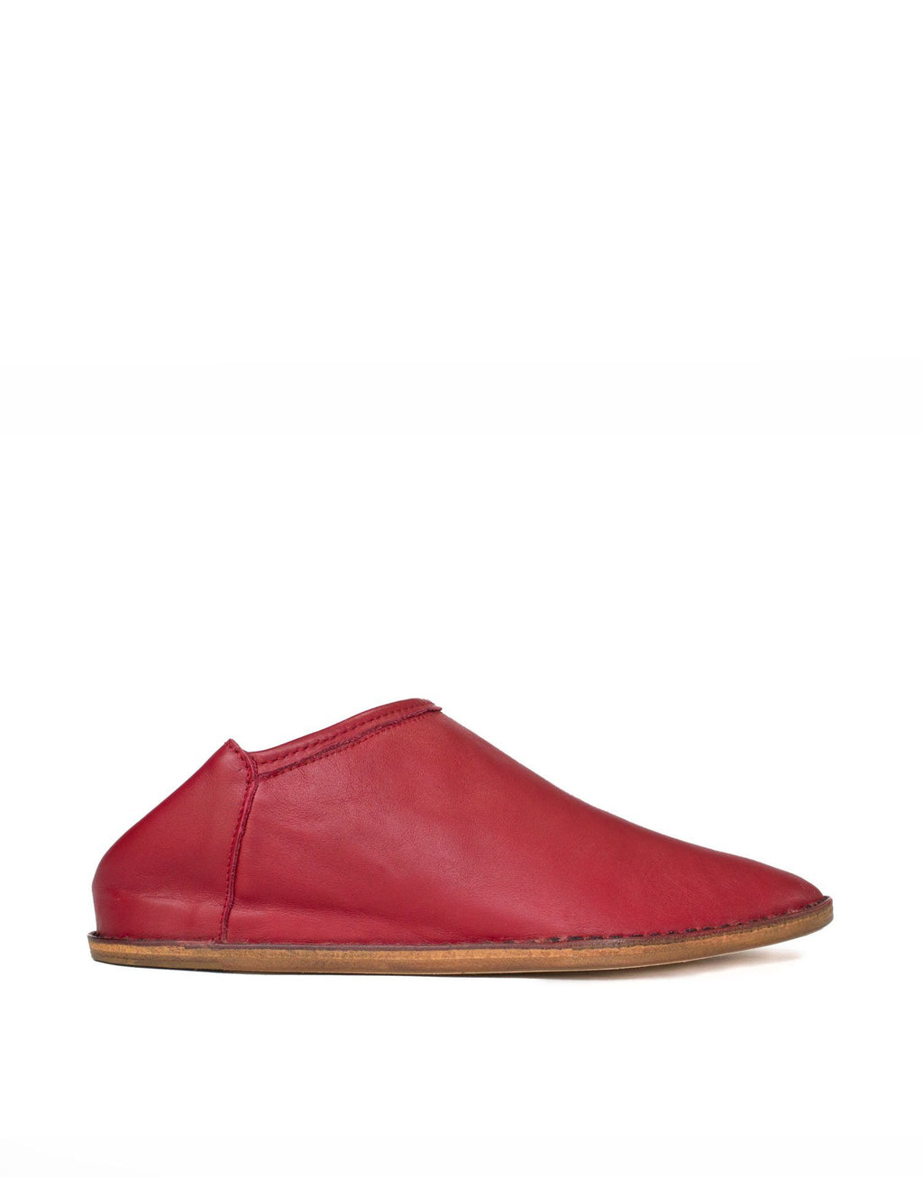 Red leather slipper with hidden wedge and padded insole for maximum comfort, love flats, love comfy feet.
