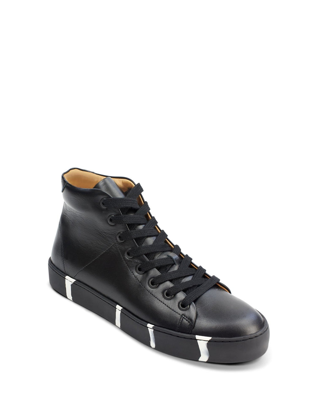 Unique black leather high top by designer Georgina Goodman