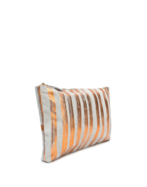 Limited Edition Medium Grey and Orange Pouch