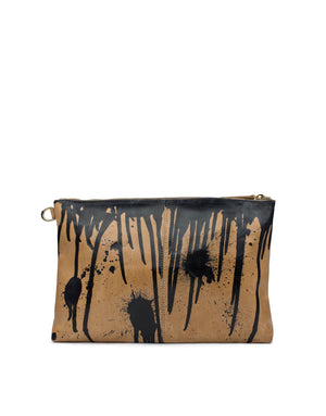 Hand painted in London leather bag by designer Georgina Goodman, a truly unique hand painted bag only one available