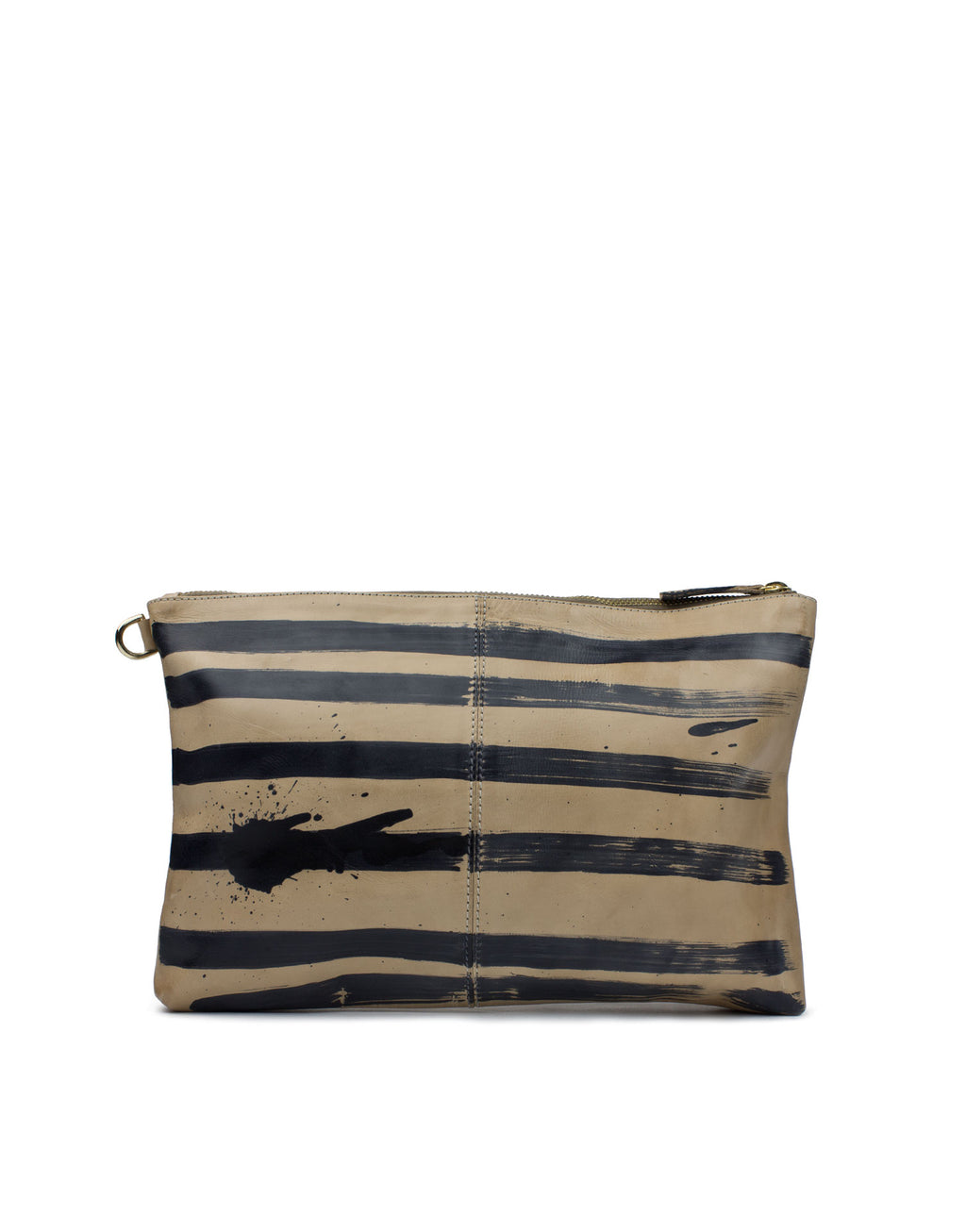 Hand Painted Leather Pouch bag by designer Georgina Goodman