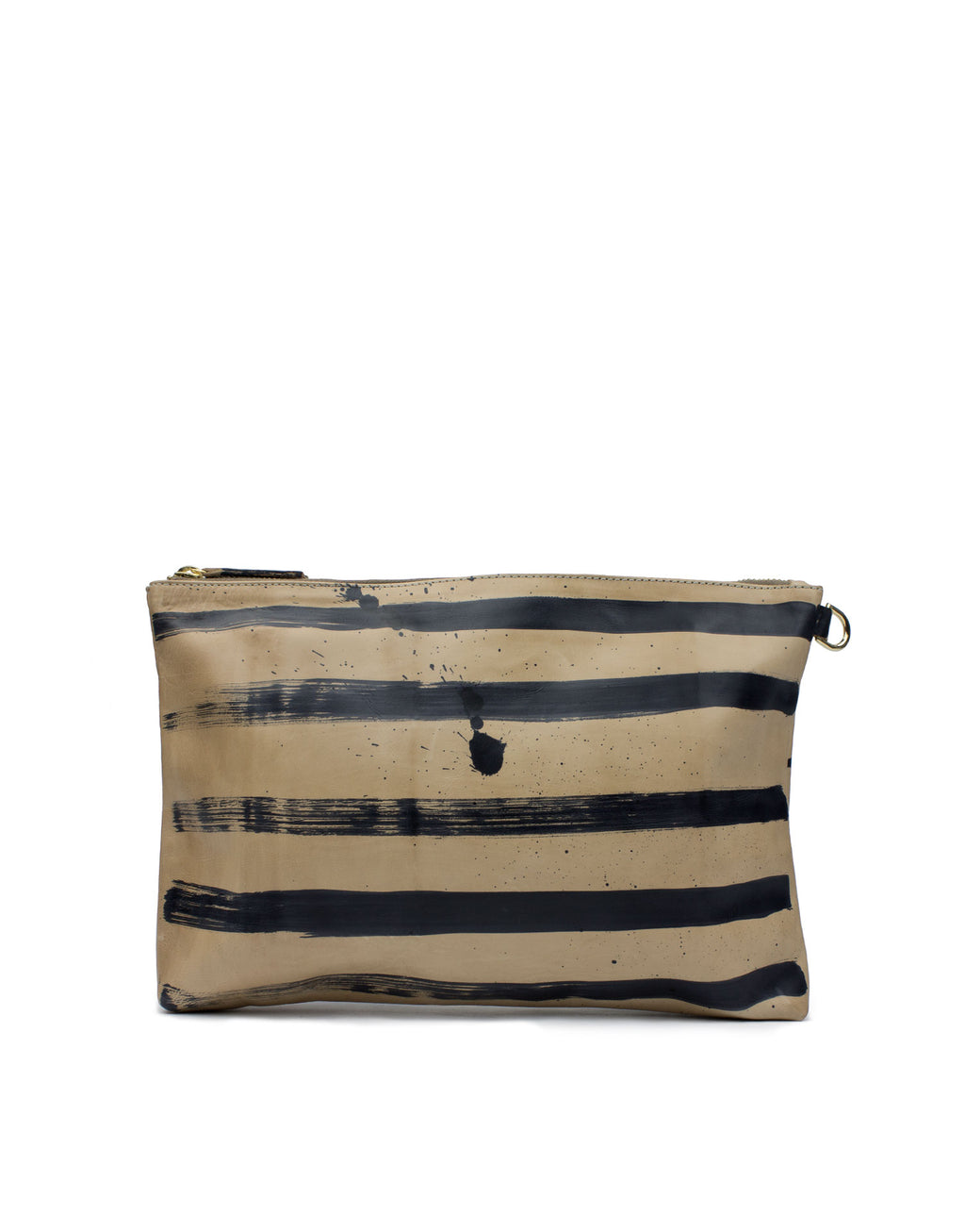 Hand Painted Leather Pouch bag by designer Georgina Goodman. Made in Portugal, Painted in London. Made in Love.