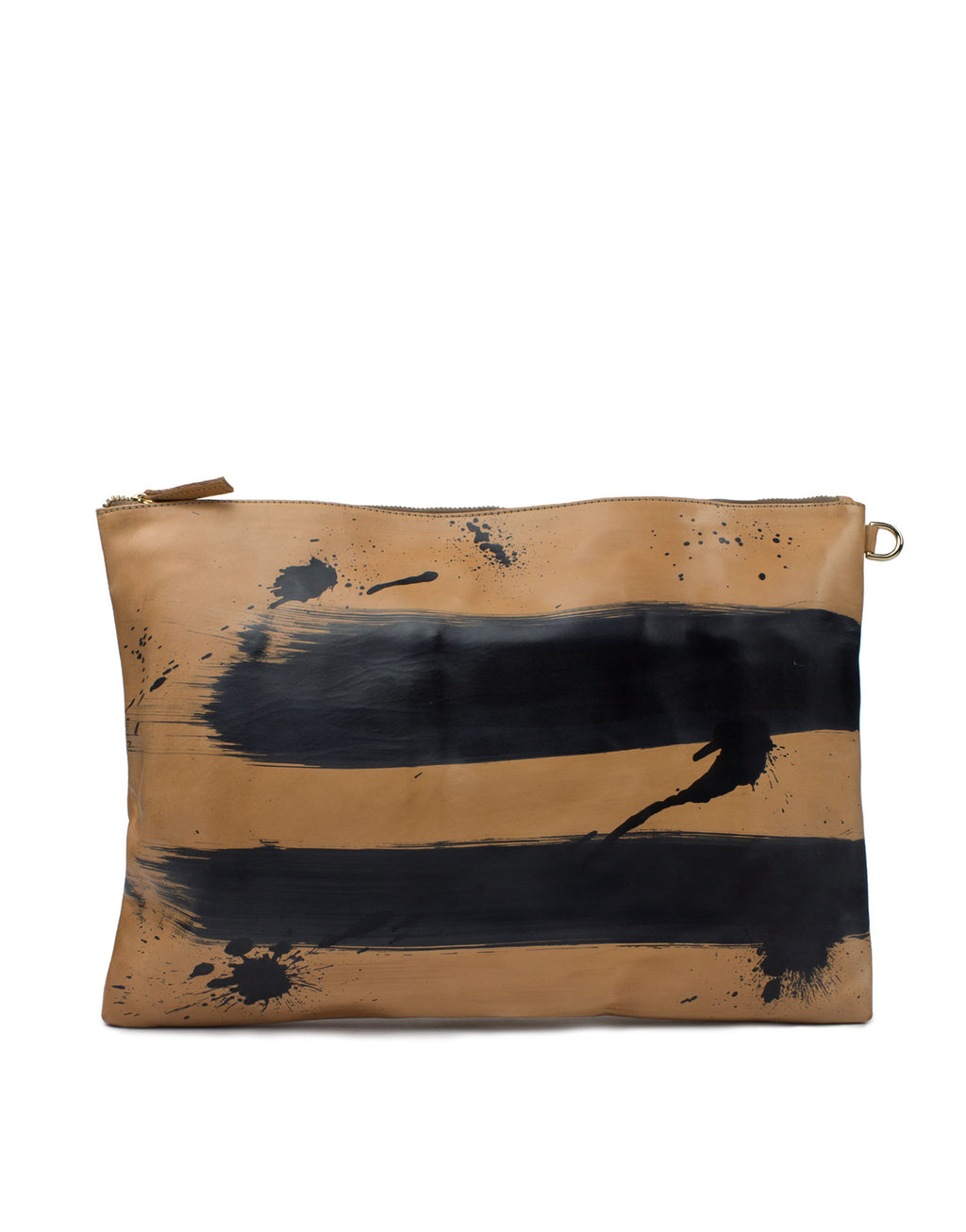 Large oversized clutch, hand painted by designer Georgina Goodman in London this bag can even be used as a laptop case!